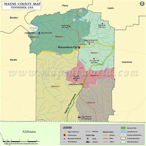 tn map usa wayne county map tn map of wayne county tennessee