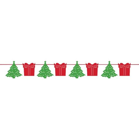 christmas garland banner party decoration trees parcels  feet long  pp  ebay