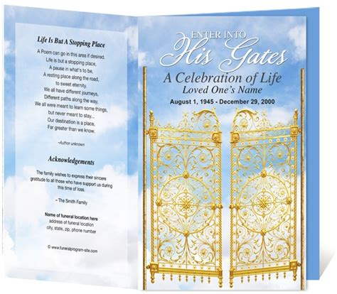funeral bulletin template free 9 best obituaries images on funeral templates
