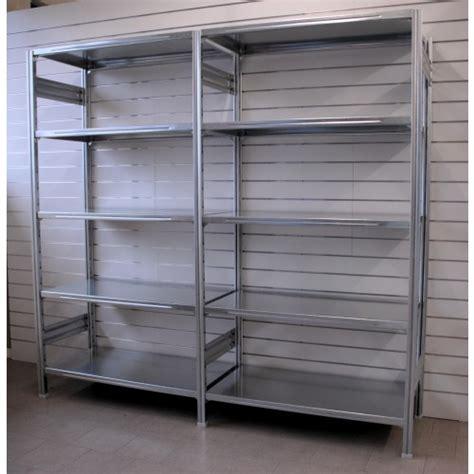 scaffali magazzino scaffalatura magazzino zincata 100x40x250h castellani shop