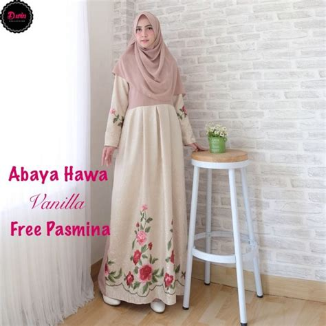 Gamis Maxi Vanila gamis modern abaya hawa size l baju muslim pesta
