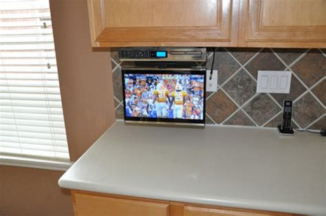 under cabinet tv for kitchen under cabinet kitchen tv best buy
