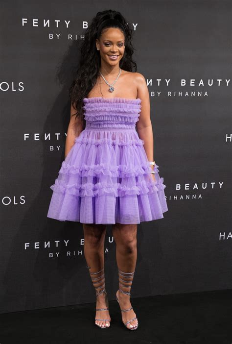 Dress Rihanna rihanna strapless dress rihanna clothes looks stylebistro