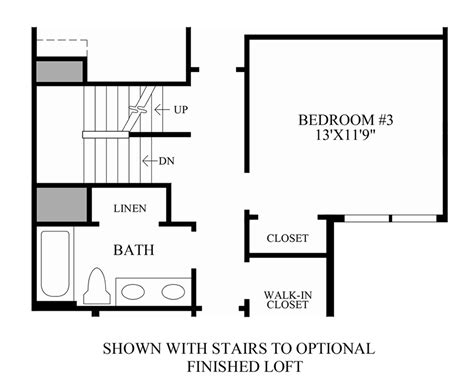 stairs in floor plan rivington by toll brothers the ridge collection the