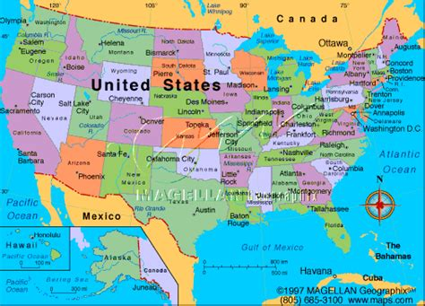 usa map with cities on it maps of united states of america with cities
