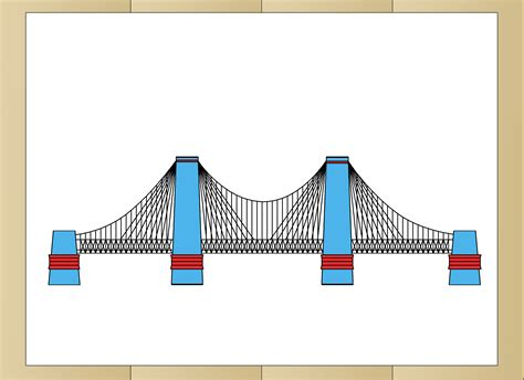 how to how to draw suspension bridges 11 steps with pictures