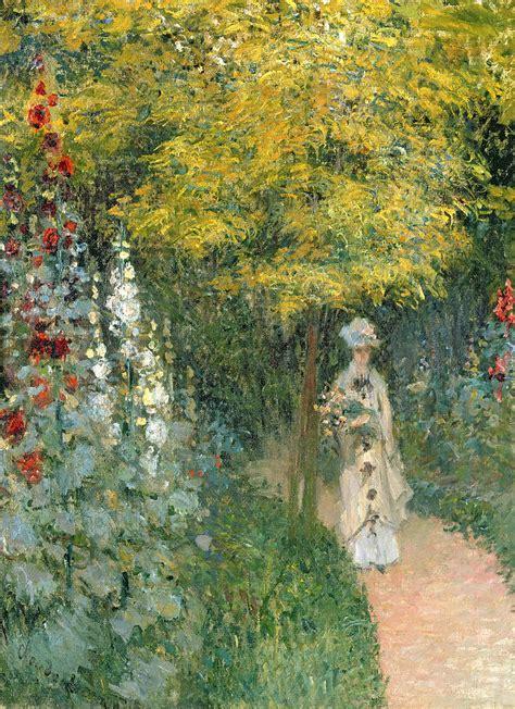 Monet In The Garden by Garden By Claude Monet