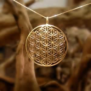 Flower Of Life Pendant - flower of life pendant gold