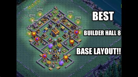clash of clans layout editor red tree best bh8 base clash of clans youtube