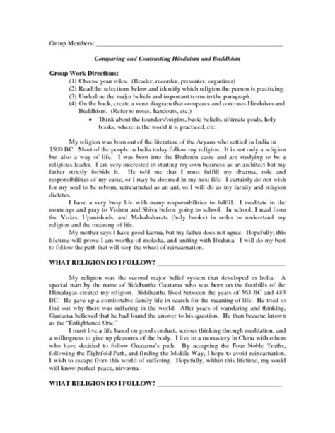 Hinduism Essay by Essay About Buddhism And Hinduism Docoments Ojazlink