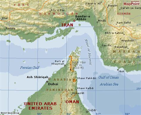 middle east map strait of hormuz the radar duck pond