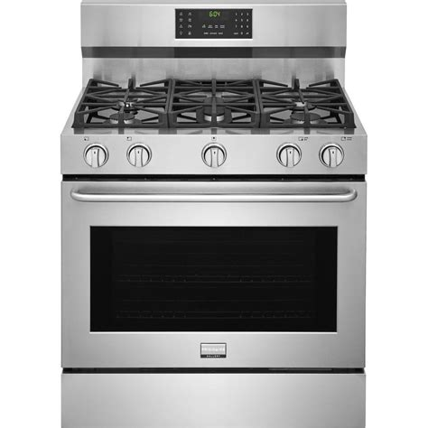 Oven Gas Convection ge profile 30 in 5 6 cu ft gas range with self cleaning convection oven in stainless steel