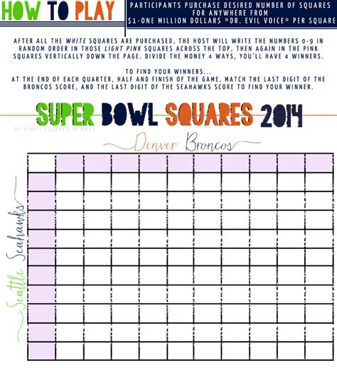 bowl 2015 squares template bowl 2015 football board printable autos post