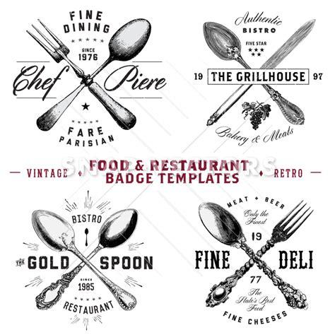 Google Kitchen Design Vector Food And Restaurant Badges And Hipster Logo