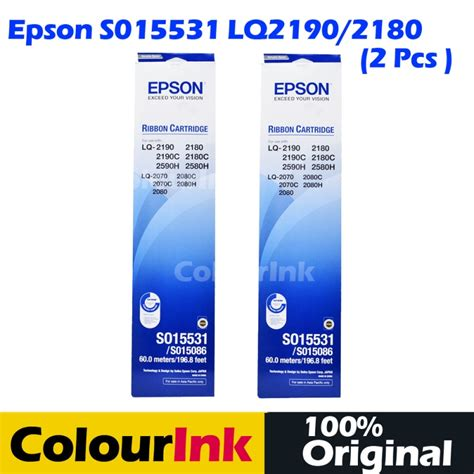 Pita Epson Lq 2180 Original 100 epson original lq 2190 lq 2080 2180 lq 2070 s015531 ribbon