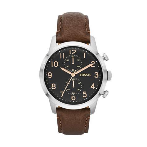 New Jam Tangan Wanita Fossil Crono Tanggal Brown Gold Premium jual fossil townsman chronograph fs4873 jam tangan pria