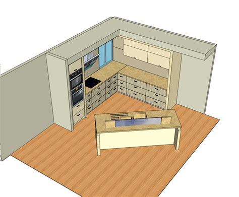modern kitchen design sketchup model cadblocksfree cad