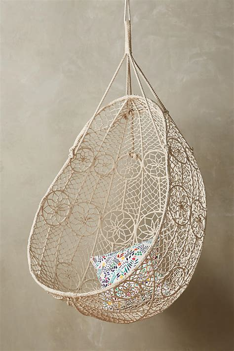 Anthropologie Hanging Chair knotted melati hanging chair anthropologie