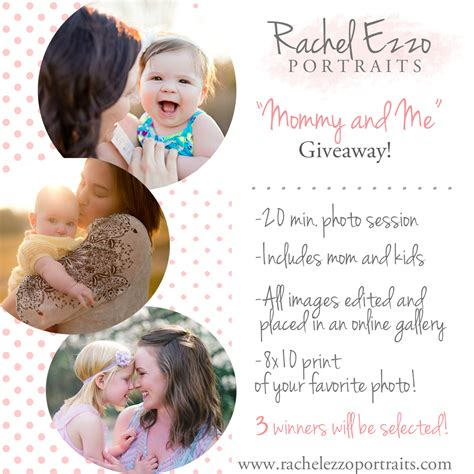 Mommy Giveaways - rachel ezzo portraits quot mommy me quot