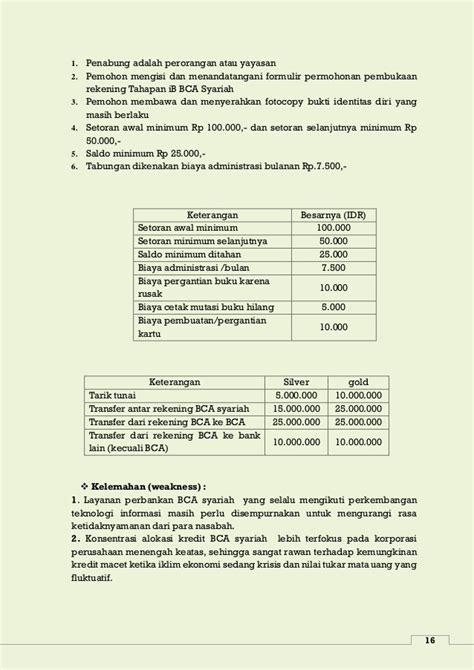 biaya pembuatan rekening bca xpresi makalah perbandingan perbankan kovensional dan syariah di