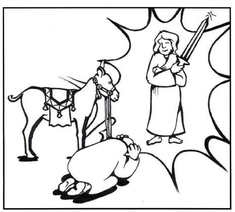 talking donkey coloring page balaam and the talking donkey crafts google search