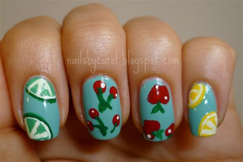fruit 21 weeks nails by carol week 21 fruit manicure