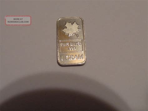 1 Gram 999 Silver Bar by Silver Bar 1 Gram Bullion