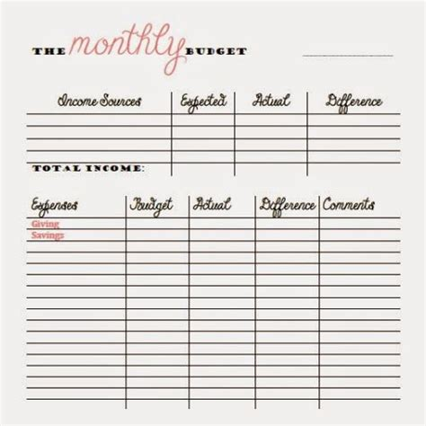Free Monthly And Bi Weekly Budget Printables Money Things Pinterest Cars We And Budget Monthly Budget Based On Biweekly Pay Template