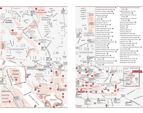 washington dc map of attractions maps update 700495 washington dc tourist map pdf