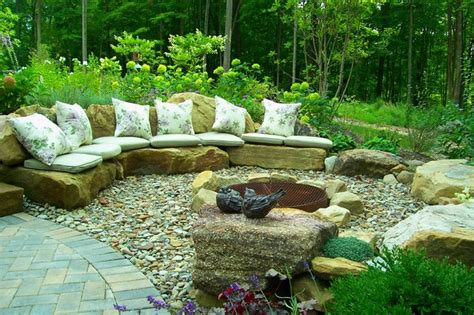 woodland pit color amidst a woodland traditional patio cleveland