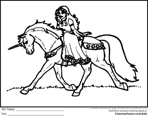 Kawaii Horse Coloring Page Coloring Home Princess And Unicorn Coloring Pages Printable