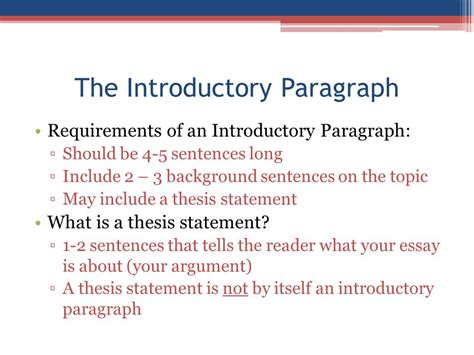 Introductory Paragraph Essay by Apush Review How To Write An Introductory Paragraph Ppt