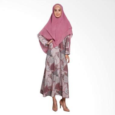 Jual Jfashion Gamis Kombinasi Warna Plus Printing Tangan Panjang Pre jual produk baju gamis orang tua harga promo diskon