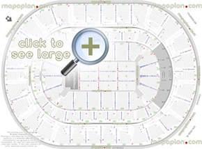 Arena Floor Plans Chesapeake Energy Arena Seat Amp Row Numbers Detailed