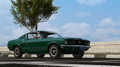 mustang fastback 1968 ford mustang fastback add on replace gta5 mods