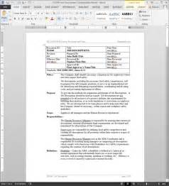 fsms job descriptions procedure