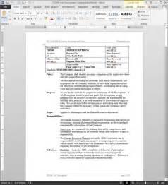 iso 9001 procedures templates fsms descriptions procedure