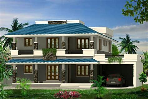 super double floor kerala house design  sq ft