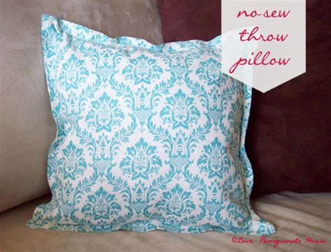 How To Sew A Throw Pillow by No Sew Throw Pillows Pomegranate House