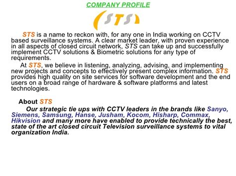 security company profile template project report on cctv