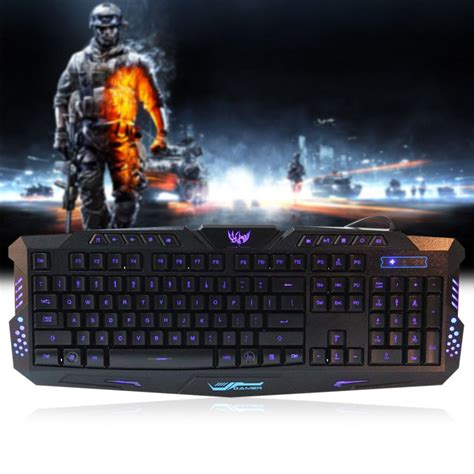 Keyboard Gaming Dota 2 aliexpress buy three adjustable backlight colors usb wired gaming led keyboard lol dota 2
