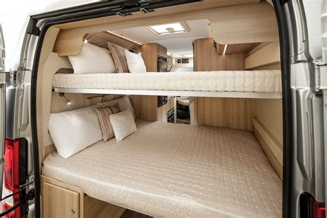 van with bed tribute 669 campervan with 2x double bunk beds pinteres