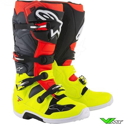 alpinestar motocross boots alpinestars 2018 tech 7 mx boots fluo yellow fluo red