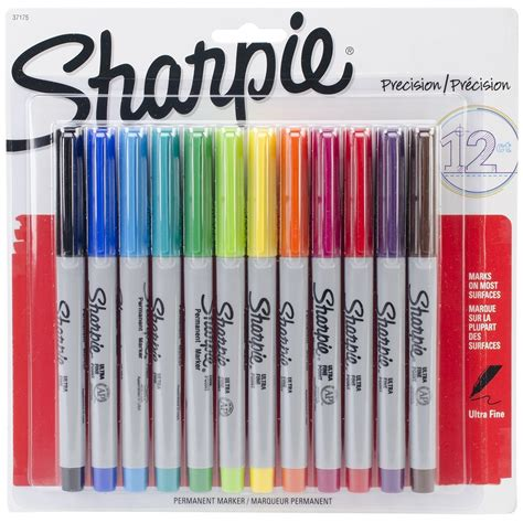 colored permanent markers 12 pcs lot sharpie ultra point permanent markers 12