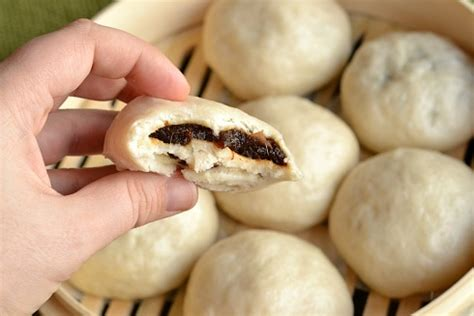 kitchen tested sweet steamed buns biting the bun