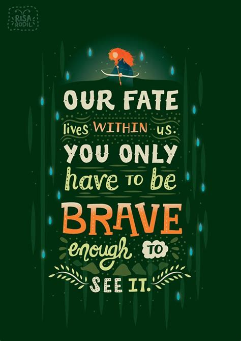Quotes Poster Be Brave Vibrant Typographic Illustrations Of Inspiring Quotes From