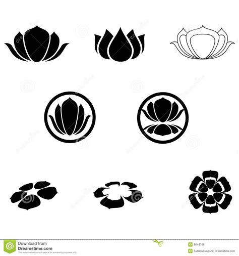 Peace Lily lotus icons stock vector image of serenity yoga petal
