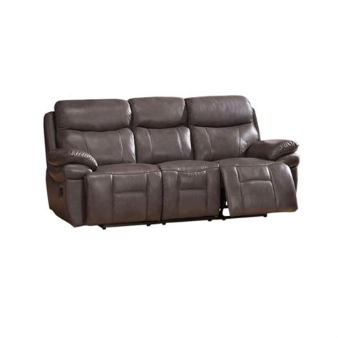 top grain leather reclining sofa summerlands top grain leather reclining sofa in smoke grey