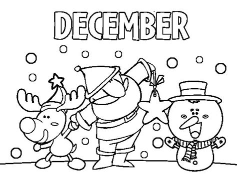 December Coloring Page Coloringcrew Com December Coloring Page