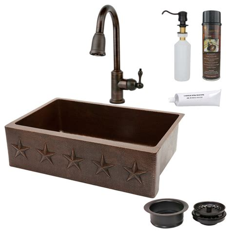 33 Quot Kitchen Apron Star Sink W Orb Faucet Rustic Rustic Kitchen Sinks